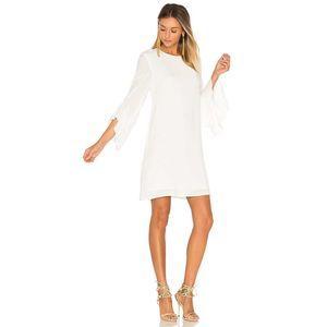 BLAQUE LABEL Ruffle Sleeve Flare Keyhole Dress